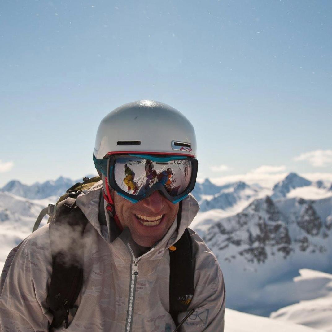 Brendan snowboarding
